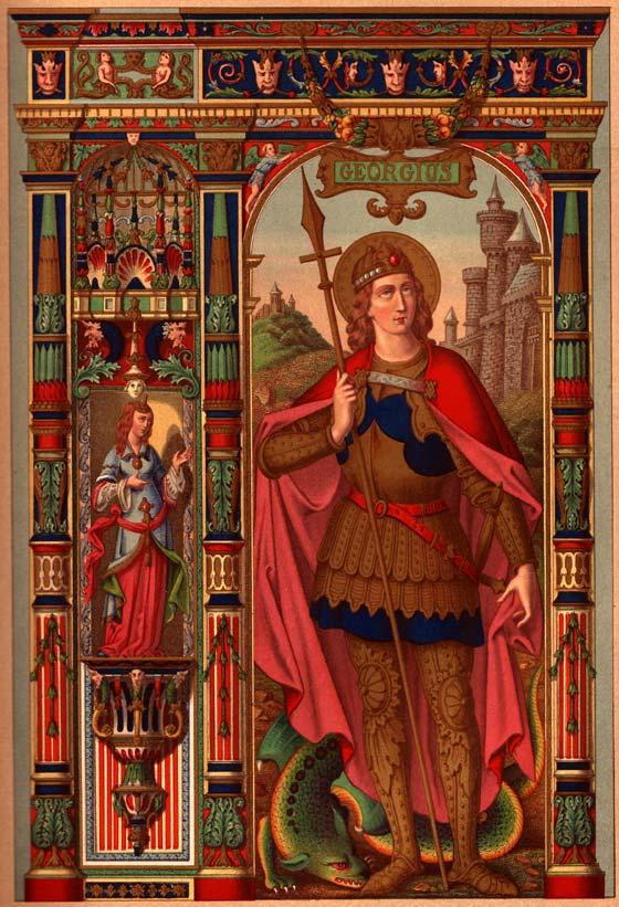 Saint Georges. Chromolithographie d