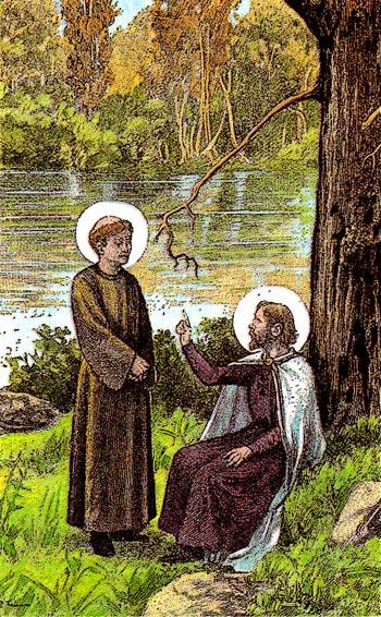 Saint Delphin et le catéchumène saint Paulin de Nole.